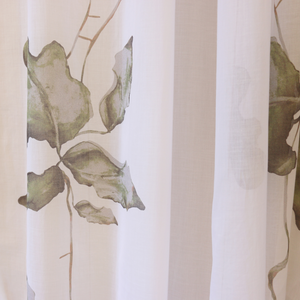 Fig leaf cotton voile curtain AF7030