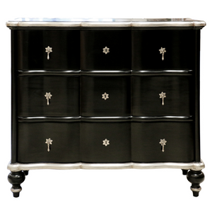 Alexander Black/Silver leaf chest SKU CL 2135