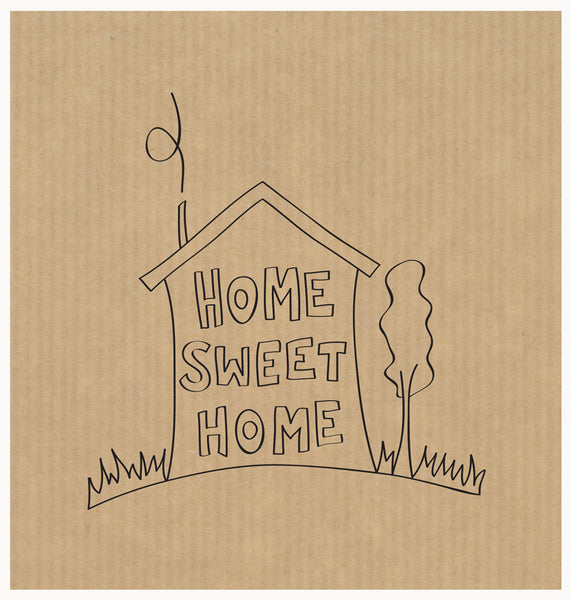 LCF009 - Home Sweet Home Text (6pack)