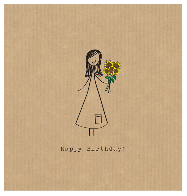 LCF109 Happy Birthday Sunflowers (6 pack)