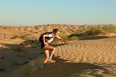 Ambassador shrugs off stress fracture to excel in self-supported 165km desert marathon