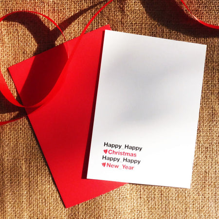 Hand pulled Holiday Cards by SHIBUI_b: Helvetica