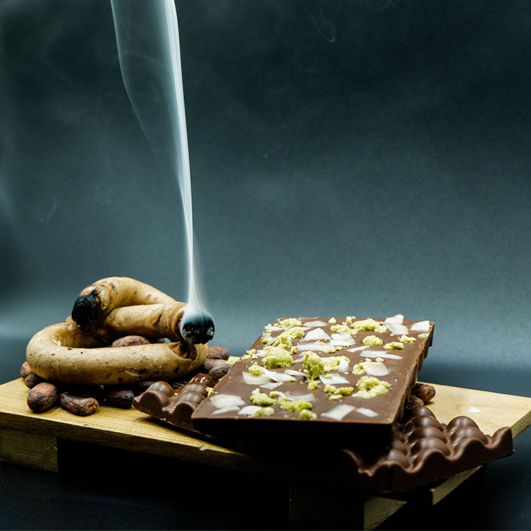 Up In Smoke: The Original Thai Aromatic Candle Smoked Chocolate (Vegan)