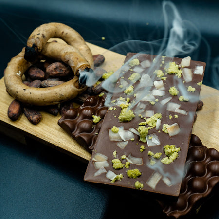 "Up In Smoke: The Original Thai Aromatic Candle Smoked Chocolate (Vegan) ""อบควันเทียน"""