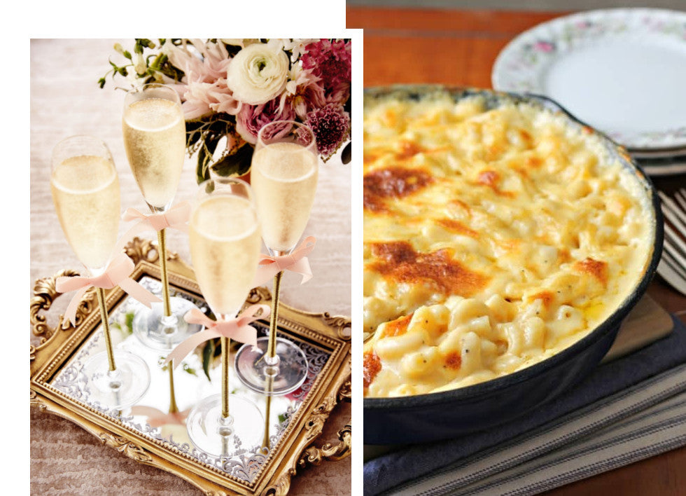 mac and cheese gillie and marc wine unusual bubble pairing sparkling gillie and marc wine