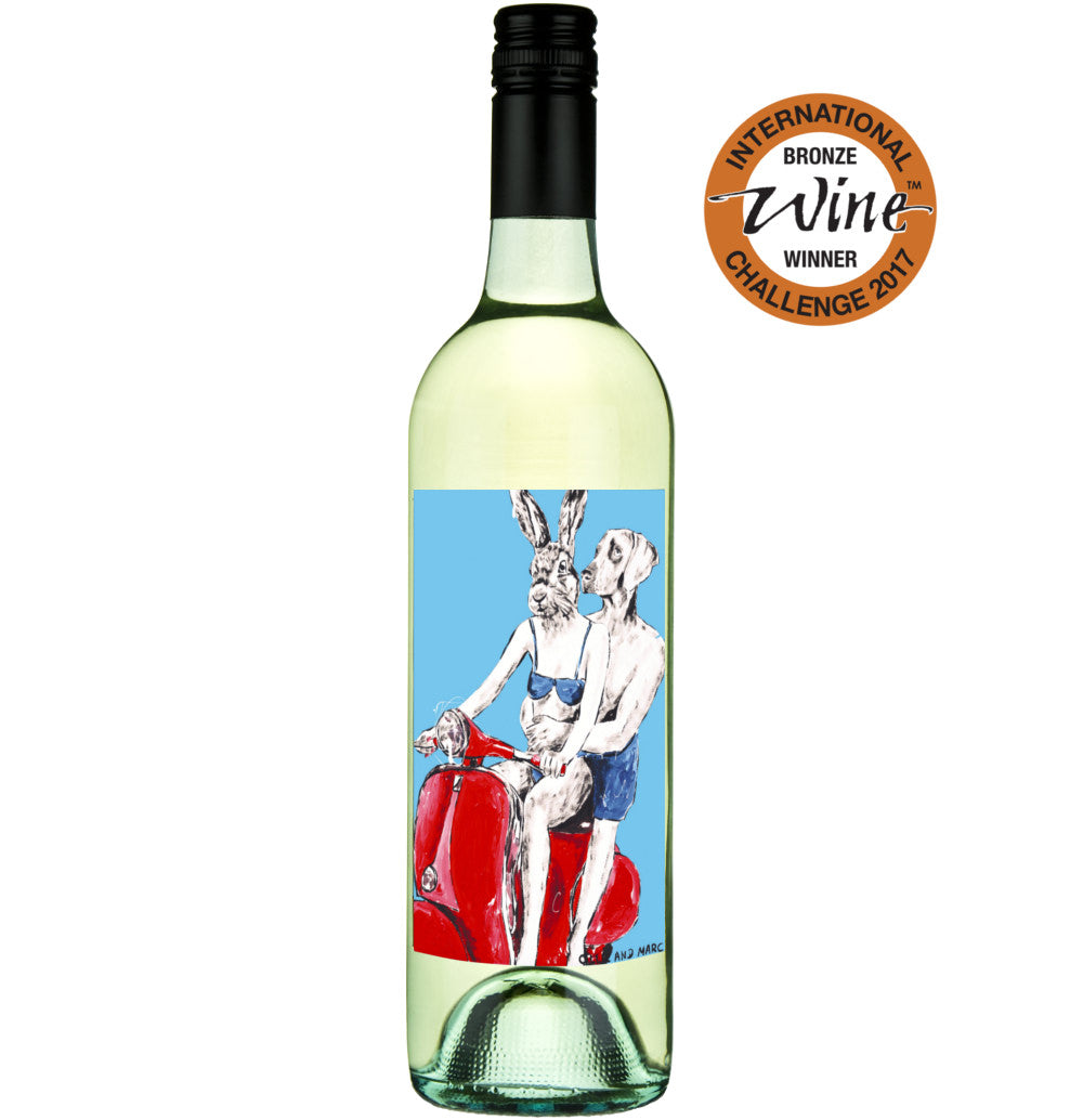 Gillie and Marc Wine - Gillie and Marc 2015 Chardonnay, Langhorne Creek, Rabbitgirl and Dogman Wine, Buy Art Wine