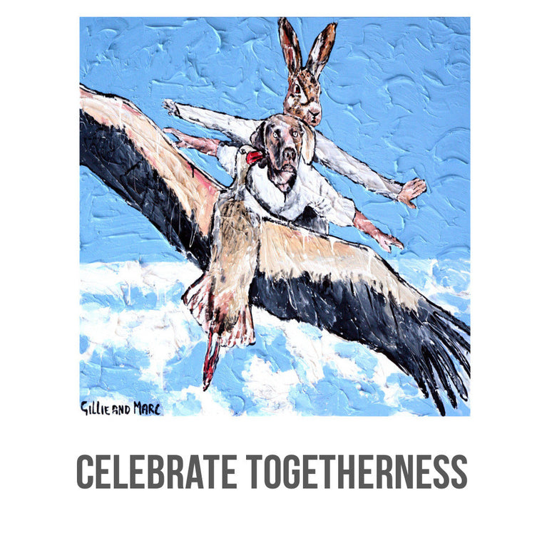 "Gillie and Marc Wine - ""Celebrate Togetherness"" Tasting Package, Rabbitgirl and Dogman Wine, Buy Art Wine"