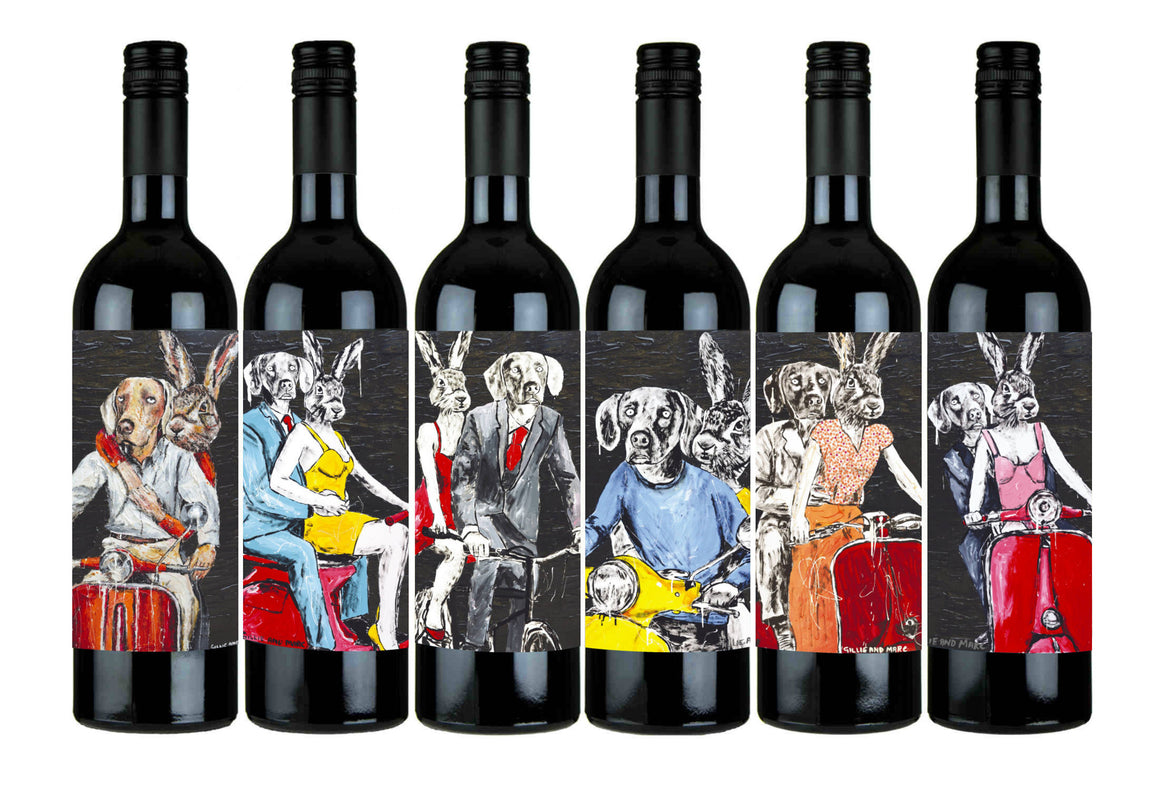 Gillie and Marc Wine - Gillie and Marc 2015 Cabernet Sauvignon, Coonawarra, Rabbitgirl and Dogman Wine, Buy Art Wine