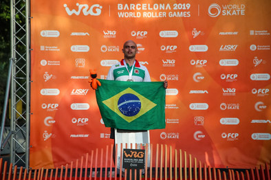 Brazilian Cerri Machado wins Luge at World Roller Games