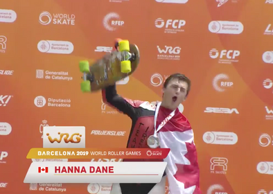 Dane Hanna wins men's WRG Downhill Skateboard
