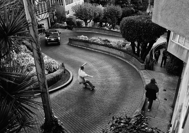 Byron on the Steep and windy Lombard st, SF. Blood Orange photo