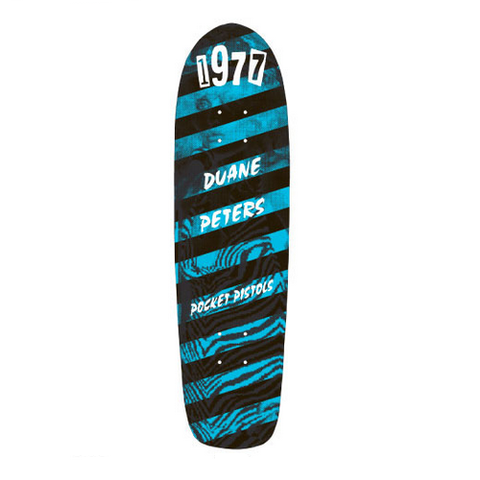 "Pocket Pistols Duane Peters 1977 8.75"" skateboard deck"