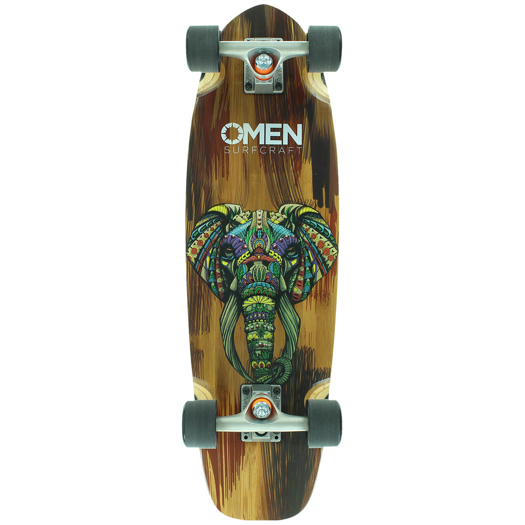 "Omen Ornate Elephant 29"" mini cruiser"