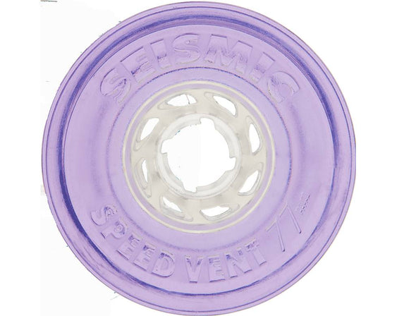 Seismic Speed Vent 77mm 79a clear purple longboard wheels