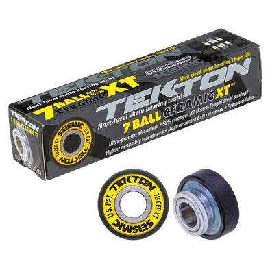 Seismic Tekton 7 Ball XT Ceramic Built In longboard bearings
