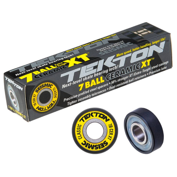 Seismic Tekton 7-Ball XT Ceramic Classic skateboard bearings