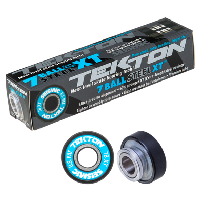 Seismic Tekton 7-Ball XT Steel Built-In longboard bearings