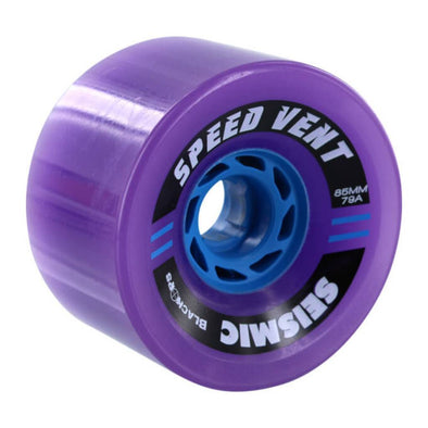 Seismic Speed Vent 85mm 79a purple longboard wheel