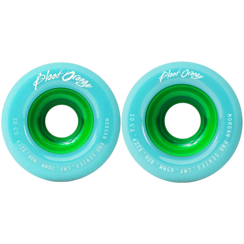 Blood Orange Morgan Pro Series 80a Sea Foam longboard wheels