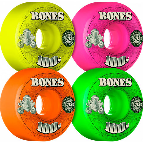 Bones OG 100's Color Pack OG Formula 52mm skateboard wheels
