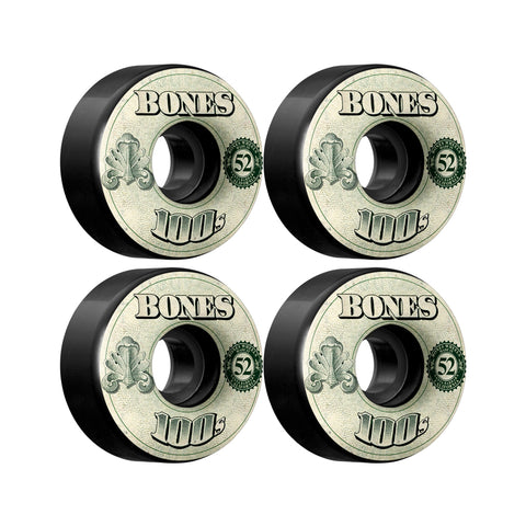 Bones OG 100's Black OG Formula 52mm skateboard wheels