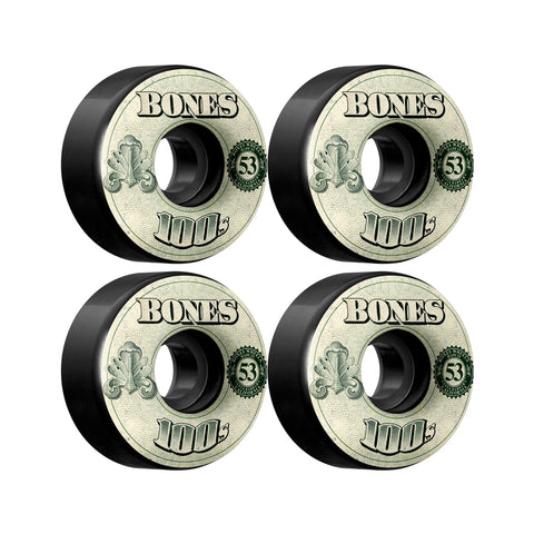 Bones OG 100's Black OG Formula 53mm skateboard wheels