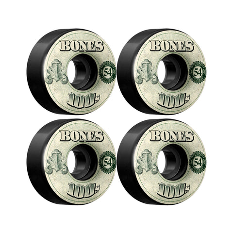 Bones OG 100's Black OG Formula 54mm skateboard wheels