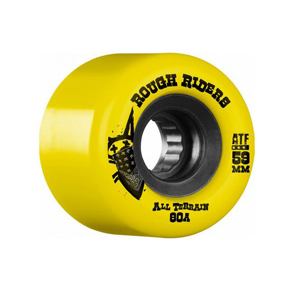 Bones ATF Rough Riders 80a 59mm Yellow skateboard wheels