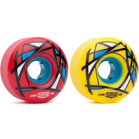 Hawgs 57mm Cordova longboard wheels