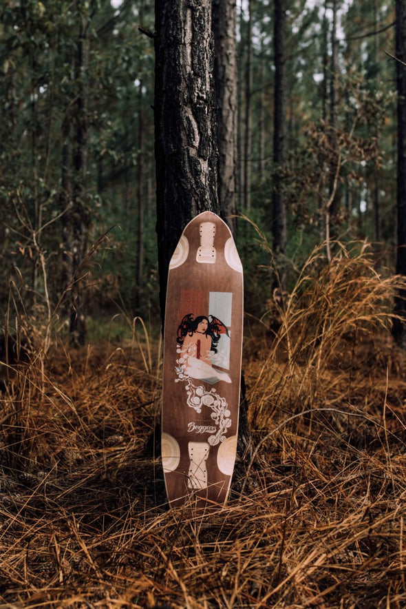 "Beggars Supply Co. The Temptress 38"" longboard deck"