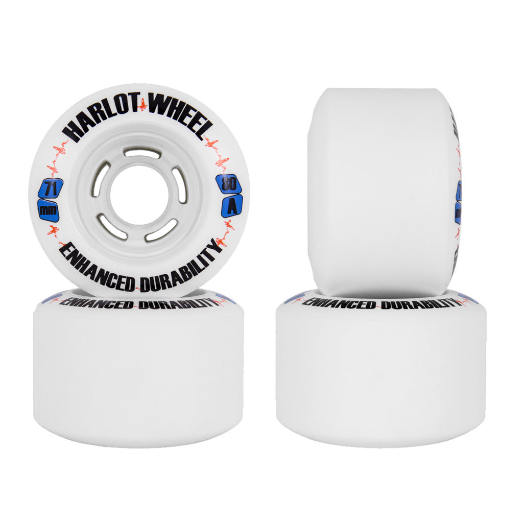 Venom Enhanced Durability Harlots 71mm 80a longboard wheels