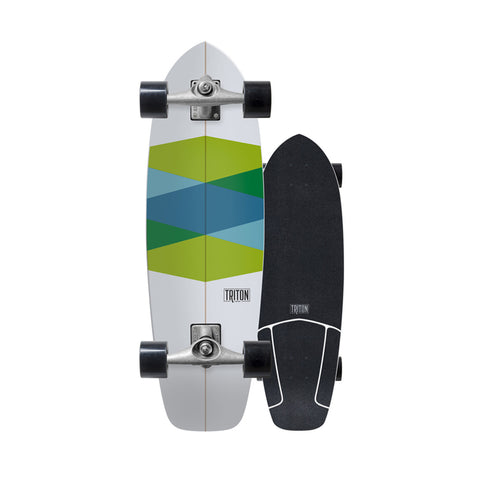 "Triton Green Glass 32"" surfskate complete"