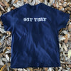 Get That Skateboarding Chest Logo Navy tee