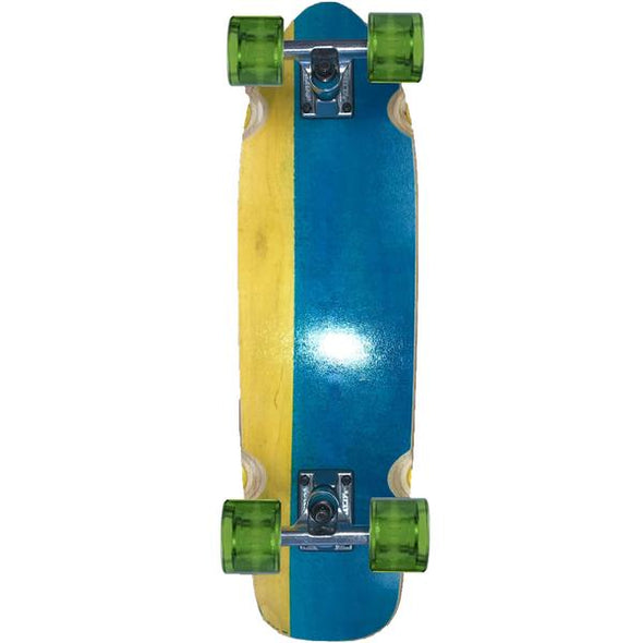 "Hopkin Split 26"" Blue Yellow Green mini cruiser"