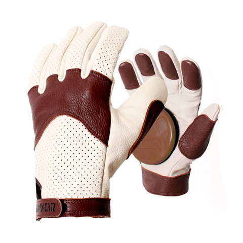 Landyachtz Leather downhill longboard slide gloves