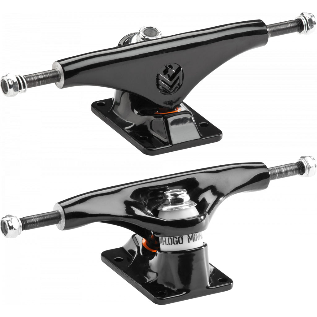 "Mini Logo 8.0"" Black skateboard trucks"