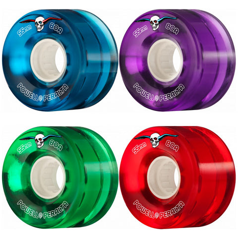 Powell Peralta 55mm Clear Cruiser 80a skateboard wheels