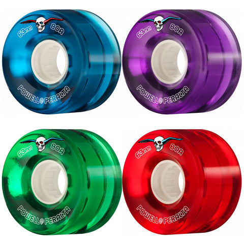 Powell Peralta 63mm Clear Cruiser 80a skateboard wheels