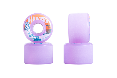 Nana Bludgers 62mm 82a mini longboard wheel in purple