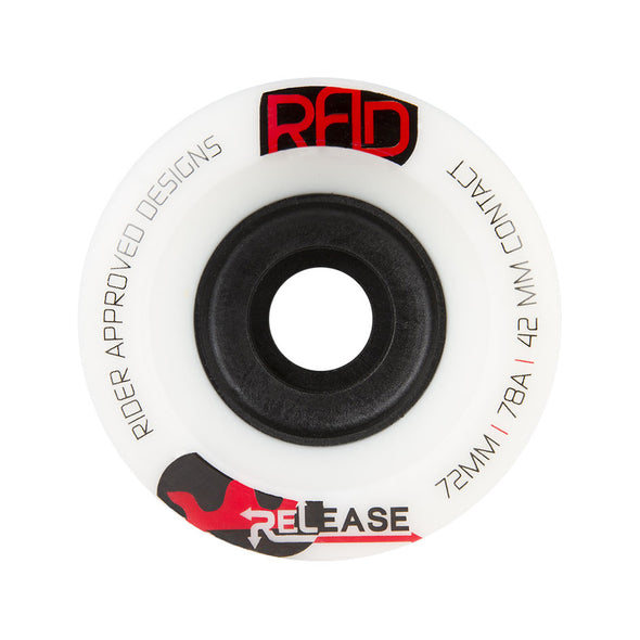 RAD Release 72mm 78a longboard wheels