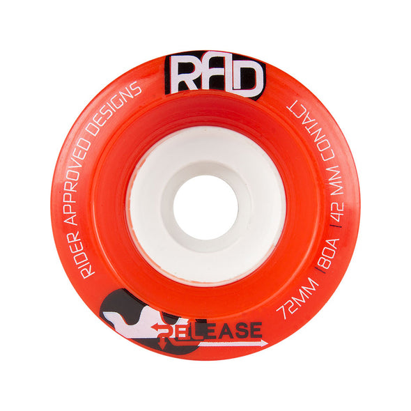 RAD Release 72mm 80a longboard wheels