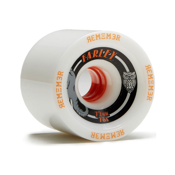 Remember Collective Farley 72mm 74a White longboard wheel