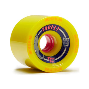 Remember Collective Farley 72mm 74a Yellow longboard wheel