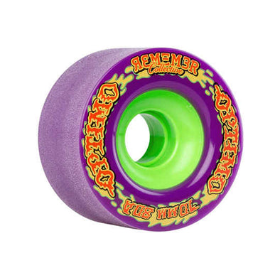Remember Collective Optimo 70mm 80a Purple longboard wheels