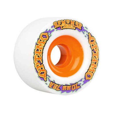 Remember Collective Optimo 70mm 78a White longboard wheels