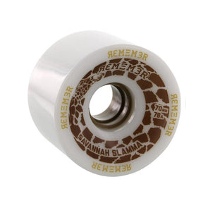 Remember Collective Savannah Slamma 70mm 78a White longboard wheels