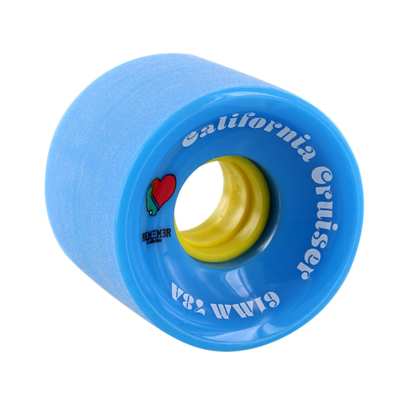 Remember Collective California Cruiser 61mm 78a Blue longboard wheels