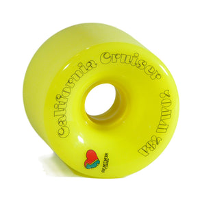 Remember Collective California Cruisers 70mm 78a Yellow longboard wheel