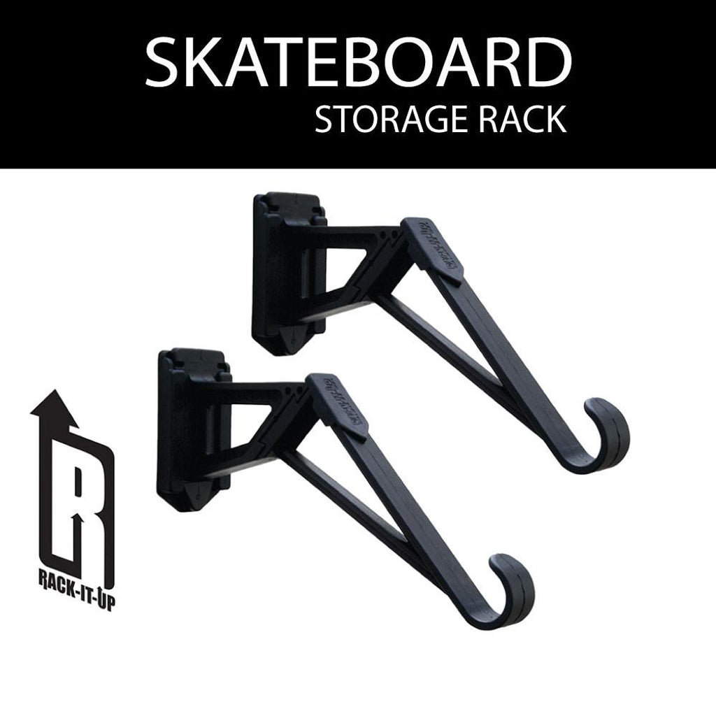 Rack-It-Up Skateboard Longboard Snowboard Wall Storage Brackets & Rack-It-Up Skateboard Longboard Snowboard Wall Storage Brackets ...