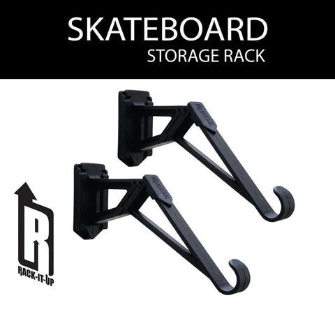 Rack-It-Up Skateboard Longboard Snowboard Wall Storage Brackets
